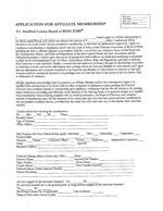 SCBR Affiliate Membership Application